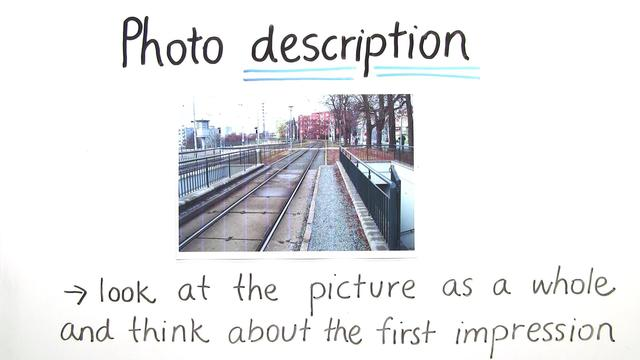 Describing and Analysing Photos – Wie beschreibt und analysiert man Fotos?