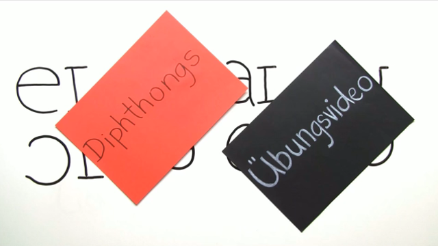Pronunciation – Diphthongs (Übungsvideo)