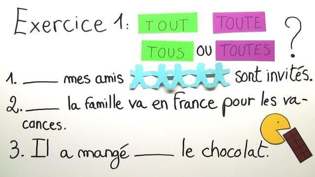 """Wie verwende ich die Indefinitpronomen """"tout"""" und """"chaque""""? (Übungsvideo)"""