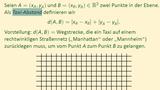Metrische Räume (Teil 1 von 3) - Definition und Beispiele