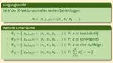 Vektorräume und Untervektorräume (Teil 2 von 3) - Folgenräume