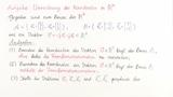 Aufgabe 1: Umrechnung der Koordinaten bei Basiswechsel in IR^2