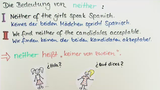 Quantifiers: both, either, neither, no and none