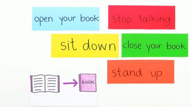 Classroom Phrases – Aufforderungen im Klassenzimmer