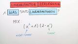 Linearfaktorzerlegung (1)