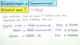 Teilbarkeitsregeln – Teilbarkeit durch 9