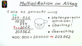 Multiplikation im Alltag