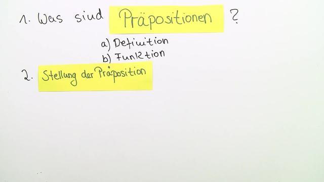 Präpositionen - Übersicht