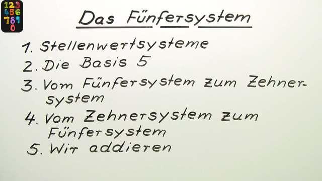 Das Fünfersystem
