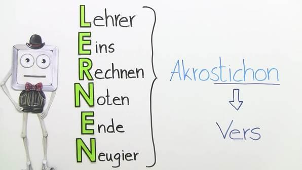 Wie schreibe ich ein Akrostichon?