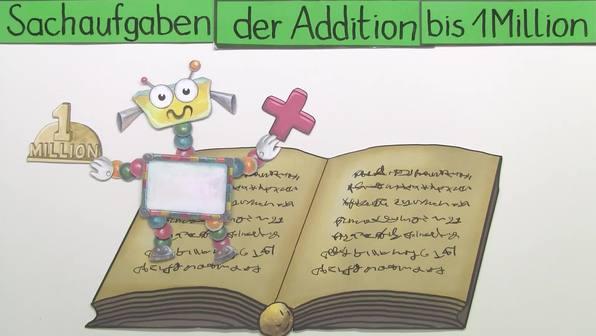 Grundrechenarten bis 1 Million – Sachaufgaben zur Addition