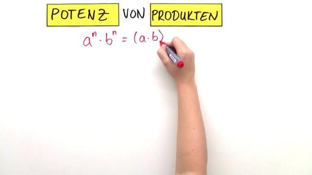 Potenzgesetze Exponent gleich