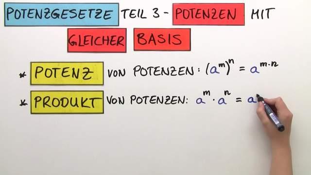 Potenzgesetze Basis gleich