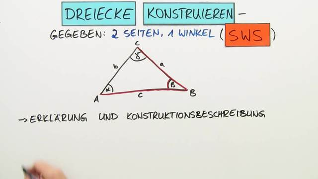 Dreiecke konstruieren – 2 Seiten und 1 Winkel gegeben (SWS) (Übungen ...