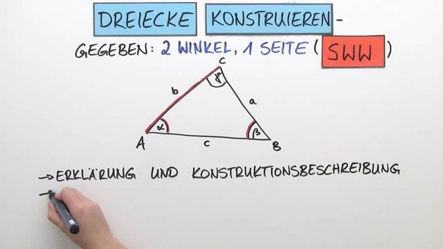 Dreiecke konstruieren – 1 Seite und 2 Winkel gegeben (SWW ...