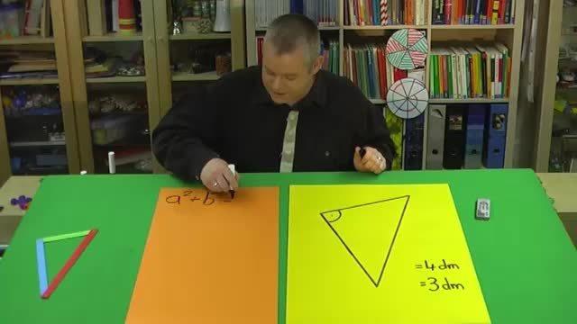 Satz des Pythagoras – Aufgabe 1 mit anderen Variablen