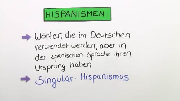 Hispanismen im Deutschen