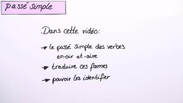 Passé Simple – Verben auf -oir und -oire