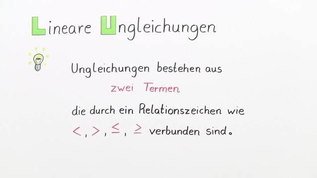 Was sind lineare Ungleichungen?