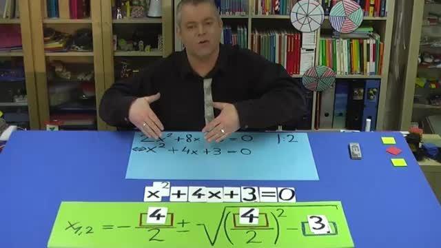 Quadratische Gleichung mit pq-Formel lösen – Erklärung (2)