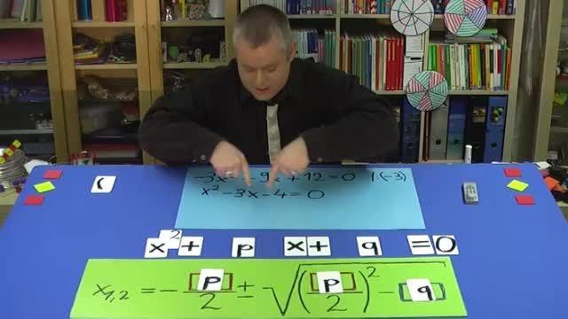 pq-Formel für allgemeine quadratische Gleichung – Aufgabe 1 (2)