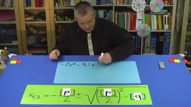 pq-Formel für allgemeine quadratische Gleichung – Aufgabe 2 (1)