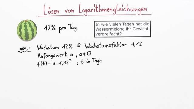 Logarithmusgleichungen – Beispiele