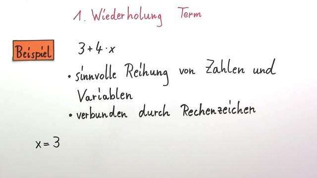 Terme aufstellen und berechnen (Übungsvideo)