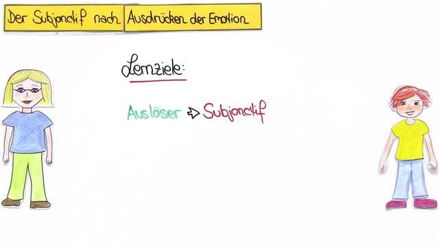 Subjonctif nach Ausdrücken der Emotion