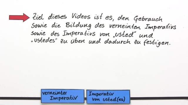 Übung: Der verneinte Imperativ und der Imperativ von usted und ustedes