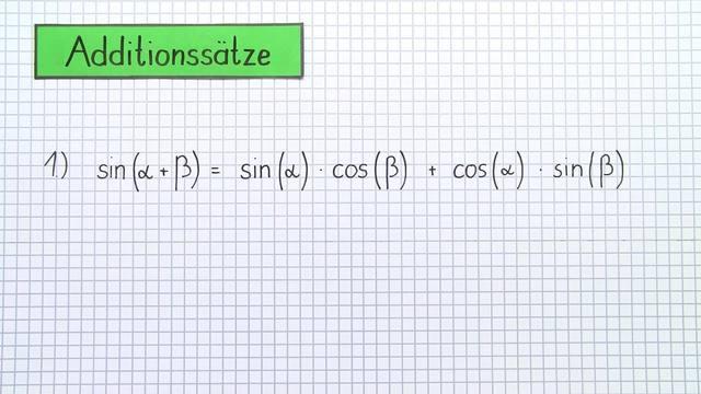 Additionssätze sin(a+b) und sin(a-b) – Herleitung und Beweis