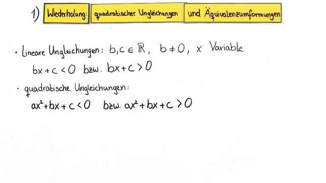 quadratische Ungleichung