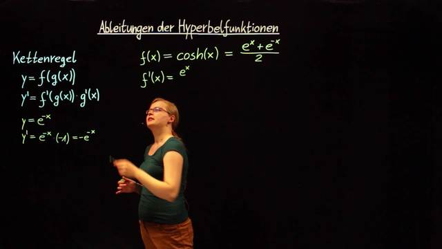 Ableitungen der Hyperbelfunktionen