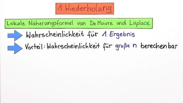 Normalverteilung – Globale Näherungsformel von De Moivre und Laplace ...