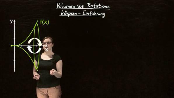 Volumen von Rotationskörpern – Einführung