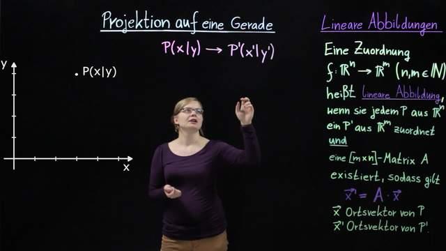 Lineare Abbildungen durch Matrizen – Projektion auf eine Gerade
