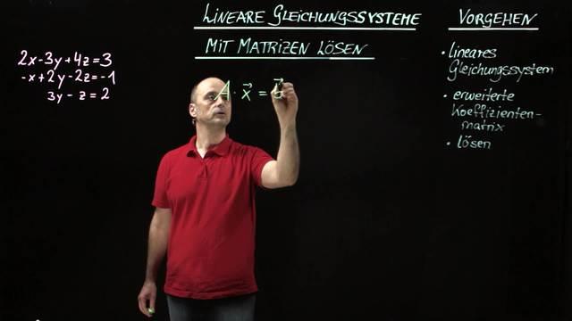 Mit Matrizen lineare Gleichungssysteme lösen – Einführung