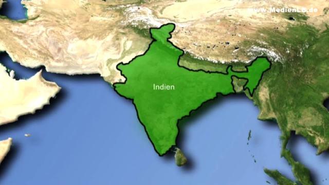 Indien - Topografie – Geographie online lernen