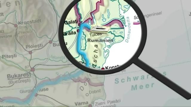 Der Verlauf der Donau - Das Donaudelta