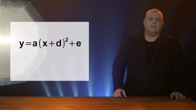 Scheitelpunktform y=a(x+d)²+e