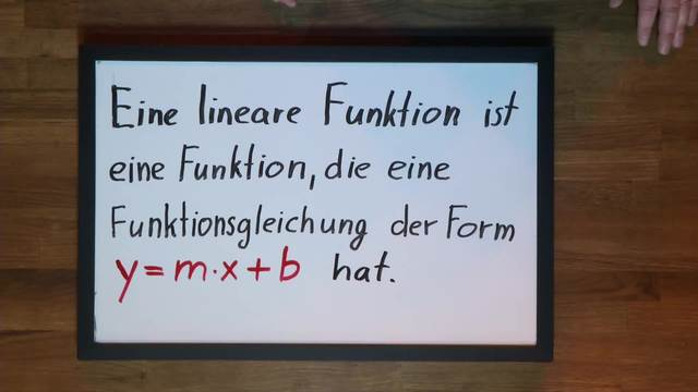 Definition einer Lineare Funktion