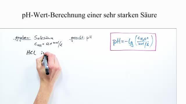 pH-Wert-Berechnung sehr starker Säuren – Chemie online lernen