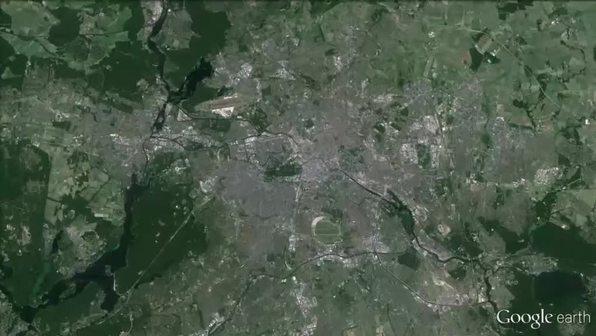 Google Earth: Untersuchung von Städten