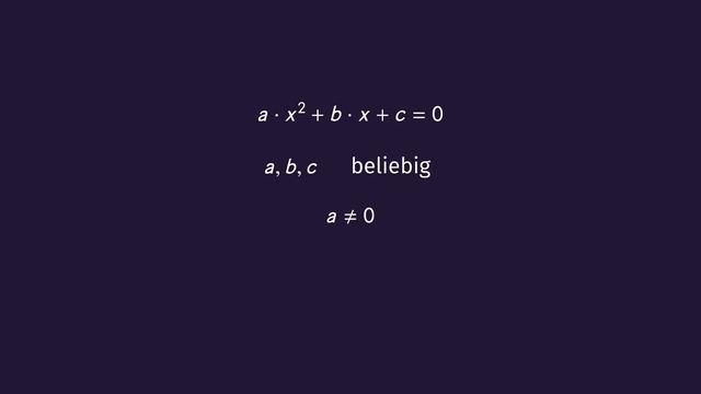 Quadratische Gleichungen – Überblick