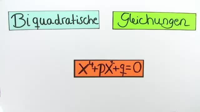 Biquadratische Gleichungen (1)