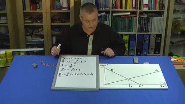 Lineare Gleichungssysteme – Treffen (3 - Lösen des Gleichungssystems)