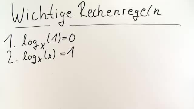 Logarithmen – Rechenregeln – Mathematik online lernen