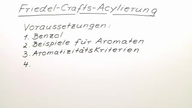 Friedel-Crafts-Acylierung – Einfach erklärt (inkl. Übungen)