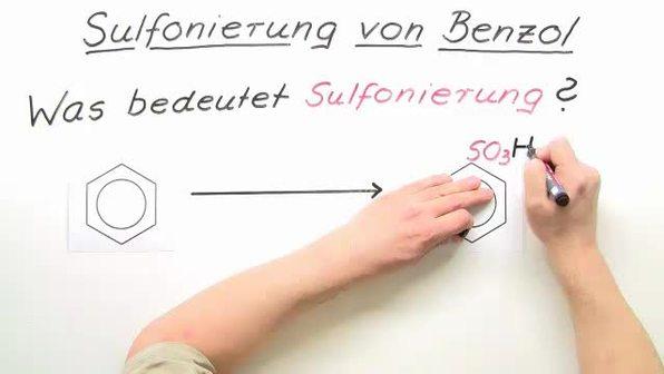 Sulfonierung von Benzol