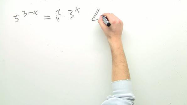 Exponentialgleichungen – Beispiele (1)